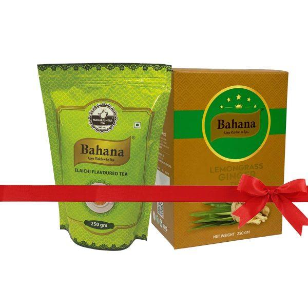 Bahana Elaichi Flavour and Lemongrass Ginger Tea Combo